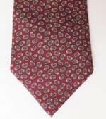 Vintage silk Paisley tie by Debenhams Made in Great Britain circa 1980s